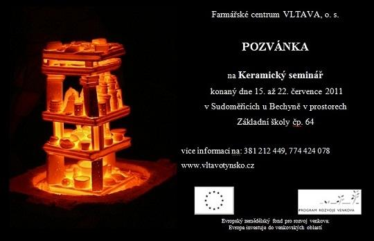 Keramický seminář - pozvánka