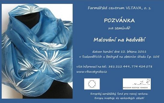 Malování na hedvábí - pozvánka na seminář